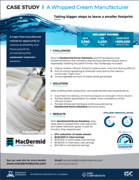 WHIPPED CREAM MANUFACTURER CASE STUDY US FORMAT